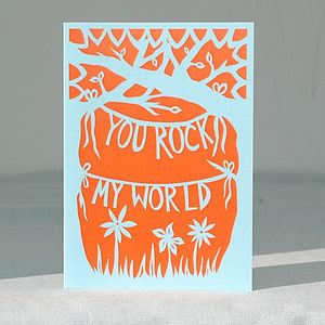 'You Rock!' Card - anniversary cards