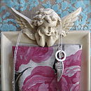 Personalised Fallen Angel Silver Necklace