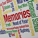 Personalised 'Memories' Word Art