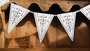 Laser Cut Bunting - outdoor decorations