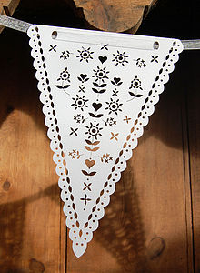Bunting Laser Cut - children's room accessories