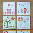 Set Of Six Happy Birthday Cards