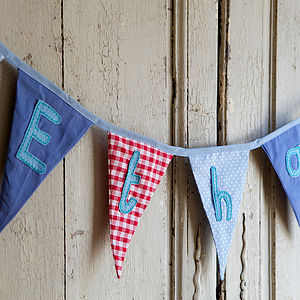 Personalised Embroidered Bunting - party decorations