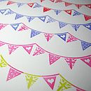Mini Bunting Rubber Stamp