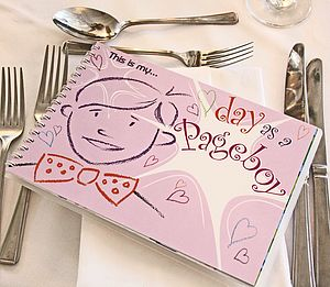 'My Day As A Pageboy' Activity Book - table decorations