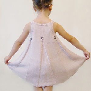 Handmade Bamboo Girls Dress: Frilled