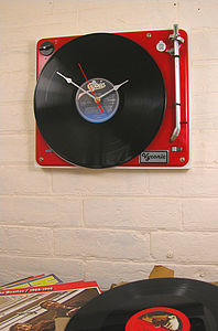Vintage Bang And Olufsen Record Player Clock - bedroom