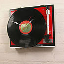 Personalised Vintage Record Player Clock