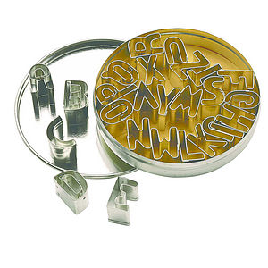 Alphabet Cookie Cutters - cake stands
