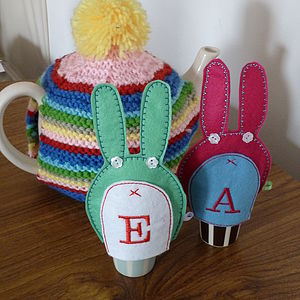 Personalised Bunny Egg Cosies