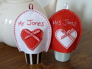 Personalised Mr And Mrs Egg Cosies - egg cups & cosies