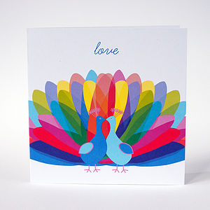 'Love' Valentines Greeting Card - wedding cards