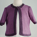 Bamboo Cardigan: Girls purple
