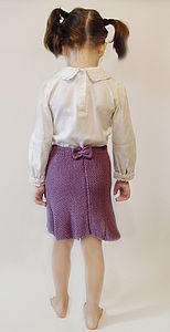 Girls Bamboo Cardigan And Skirt