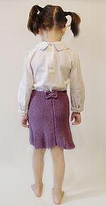 Girls Bamboo Cardigan And Skirt