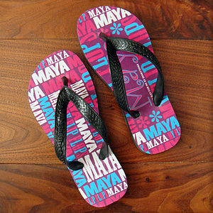 Personalised Children's 'My Flip Flops' Pink