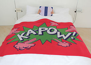 Kapow Blanket - throws, blankets & fabric