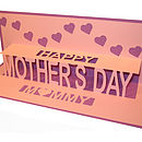 Happy Mother's Day Personalised Pop Up Card