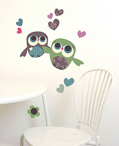 Owls Mini Fabric Wall Stickers