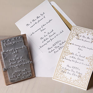 Personalised Wedding Invitation Rubber Stamp