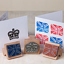 Crown And Union Jack Rubber Stamps