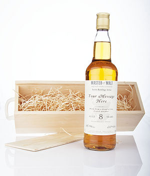 Personalised 8 Year Old Luxury Blend Whisky