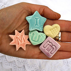 'I Love Mum' Porcelain Magnets - gifts for her