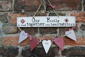 Our Family Tree Heart Garland - hanging decorations