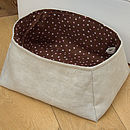 basket with dotted chocolate lining