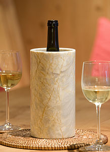 Hand Crafted Marble Wine Cooler - rustic dining