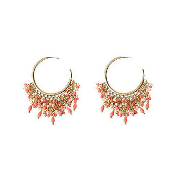 Anya Earrings in Coral and Gold