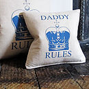 Daddy Rules Cushion