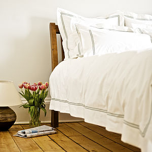 Corded Stitch Egyptian Cotton Duvet Cover - bedding & accessories