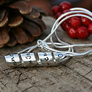 Personalised Petite Open Scroll Necklace