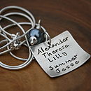 Personalised Silver Love Note Necklace