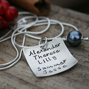 Personalised Love Note Necklace - necklaces & pendants