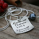 Personalised Love Note Necklace