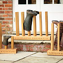 Personalised Boot Rack