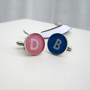 Colour Coded Personalised Cufflinks