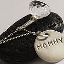 Mommy Necklace In Silver With Quartz Gemstone