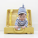 French Breton Striped Baby Hat