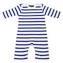 French Blue/ White Breton Striped All In One