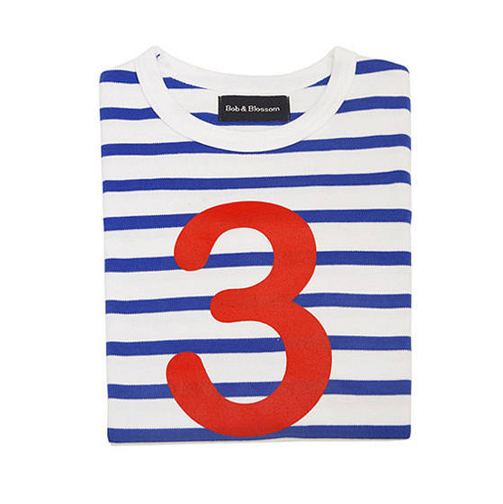 Age Number Kids T Shirt French Breton