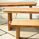 Personalised Solid Oak Bench