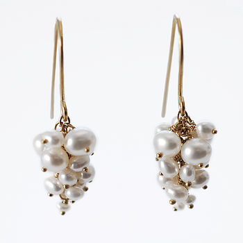 Freshwater Pearl Grape Earrings