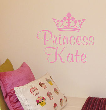 Personalised Princess Prince Wall Sticker