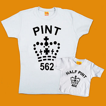 Pint And Half Pint Mum And Baby T Shirt Twinset
