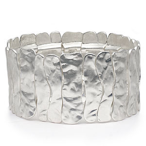 Silver Hammered Cuff - jewellery