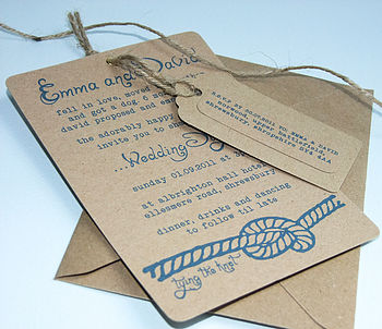 Recycled The Knot Wedding Invitation