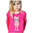personalised pink Cat T-shirt